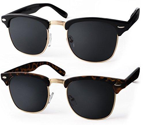 UVprotect® Clubmaster Horn Optik Sonnenbrille - UV400