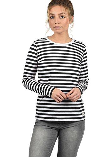 DESIRES Mila Damen Longsleeve Langarmshirt Streifenshirt Shirt Mit  Rundhalsausschnitt, Größe S, Farbe Black (9000) c3d25e0806