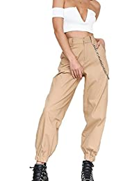 Amazon.it  catena pantaloni - Pantaloni   Donna  Abbigliamento 0e1a023532c7