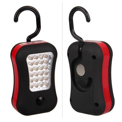 Luz de Trabajo 28 LED para coche Linterna con Gancho y iman