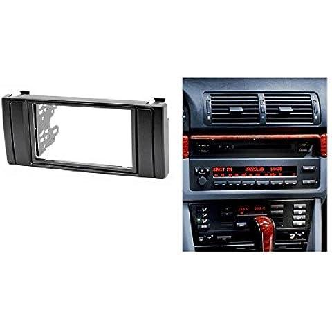 autostereo 11–041Marco Embellecedor Para Radio De Coche BMW Serie 5E391995–2003x5e531999–2006Panel de radio para radio de coche, BMW E39E53Radio Estéreo Dash CD Trim Kit de instalación