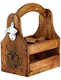 suchergebnis auf f r flaschentr ger holz koffer rucks cke taschen. Black Bedroom Furniture Sets. Home Design Ideas