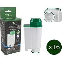 16 x FilterLogic CFL-902B - cartuccia filtrante / filtro acqua compatibile con Saeco BRITA Intenza+ CA6702/00 - per macchina da caffè Saeco / Philips /
