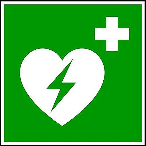 LEMAX® Winkelschild Defibrillator DIN EN ISO 7010 200x200mm PVC nachleuchtend -