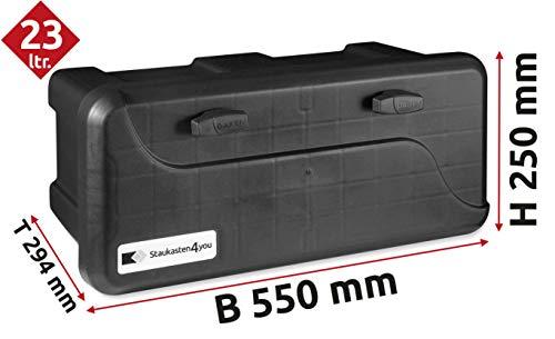 25l Unterbaubox oder Deichselbox für PKW Anhänger Pritschenfahrzeuge LKW Anhänger Staubox Werkzeugkiste Gurtkiste