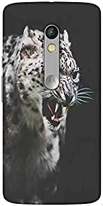 Snoogg Leopard Fury Designer Protective Back Case Cover For Motorola Moto X Play