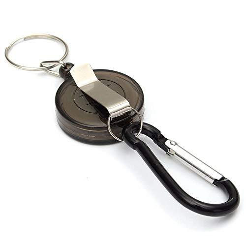 LMYXY Schlüsselbund Mulitifunctional Multicolor Badge Reel Versenkbarer SchlüsselanhängerSki-Halter Schlüsselanhänger Schlüsselanhänger Stahlseil (Badge Reel Für Männer)