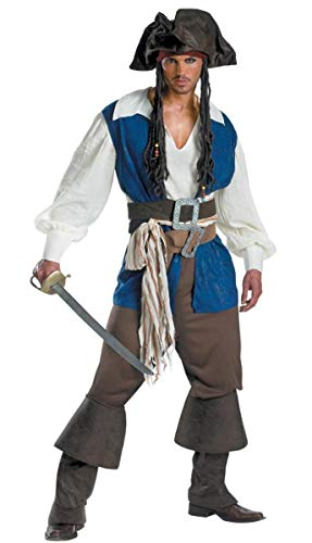 (Piraten Kostüm Herren Mädel Pirat Halloween Frau Kleid Karneval Verkleidungsparty Cosplay Faschingskostüm Sexy Erwachsenenkostüm Gürtel + Hut + Weste + Top + Hose + Fußbezug)