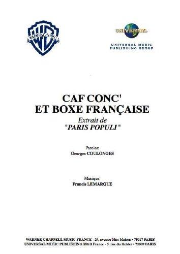 CAF CONC' ET BOXE FRANÇAISE par LEMARQUE Francis
