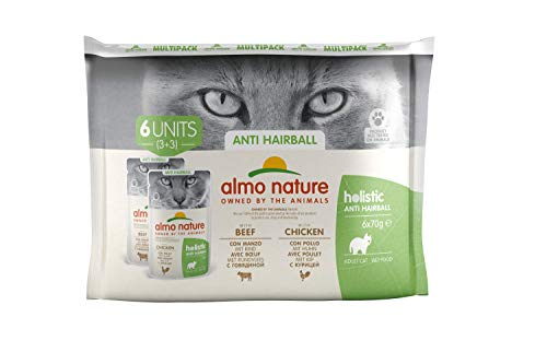 almo nature Daily Fonctionnelle Multipack Anti-Hairball-Complete Wet Cat Nourriture (6x 70g)