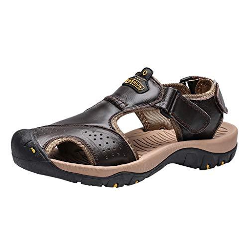 Sunnywill Scarpe da Trekking in Pelle Moda Uomo Pantofole da Spiaggia Scarpe da Spiaggia Acqua Slippers Sandali Sportivi Nero, Marrone, Kaki, caffè