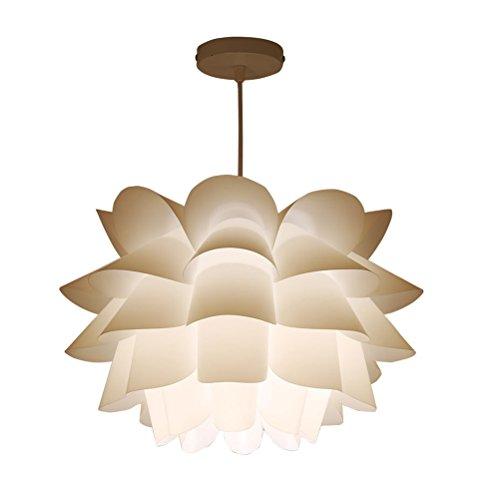 ledmomo Anhänger Lampe Haus Lotus Kronleuchter Decke Anhänger Lampenschirm DIY Puzzle Lichter Lampe Moderne Schatten 36cm Durchmesser (weiß) - Lotus Schatten