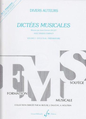 Dictées Musicales Volume 2 - Eleve