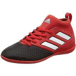 adidas Ace 17.3 In, Botas de Fútbol Unisex Niños, Rojo (Red/Ftwr White/Core Black), 32 EU