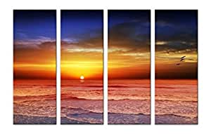 SAF Sunrise Special Large 4PANEL Painting Ink Painting(24 inch x 36 inch)