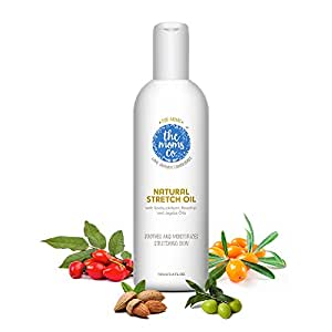 The Moms Co Natural Stretch Oil (100ml), Mineral-Oil-Free and Chemical-Free Elasticity Belly Oil For Moms and Moms To Be