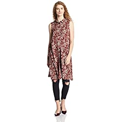 VERO MODA Women's Body Blouse Shirt (10164962_Fired Brick_XL)