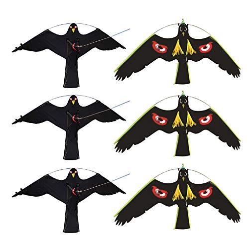 FLAMEER 6X Manches à Air Faucon Jardin Récolte Épouvantail Oiseau Agriculteur