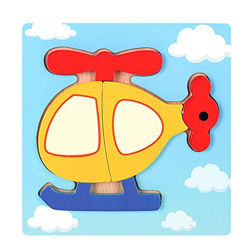 Mitlfuny Kinder Erwachsene Entwicklung Lernspielzeug Bildung Spielzeug Gute Geschenke,Entwicklungs-Baby spielt hölzerne Puzzlespiel-Karikatur 3D, die pädagogisches Kinderspielzeug lernt
