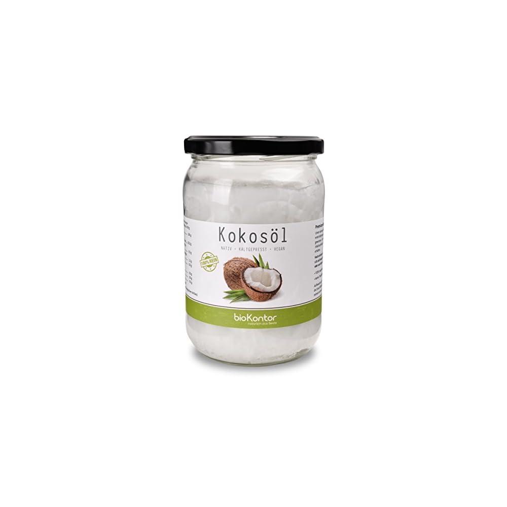 Biokontor Bio Kokosl Nativ Kaltgepresst Vegan 100 Rein 500 Ml