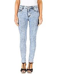 KRISP® Femmes Jeans Skinny Délavée Casual