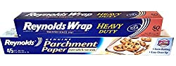 Aluminium Foil Paper :Reynolds Wrap Heavy Duty Aluminum Foil & Reynolds Parchment Paper (Non Stick) Baking Cooking Bundle:1 Reynolds Wrap Heavy Duty Aluminum Foil, 50 Sq ft and 1 Reynolds Parchment Paper, 45 Sq ft