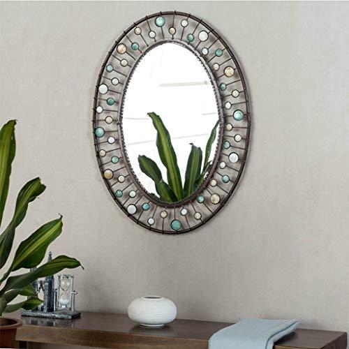 ZhanMaT Konvexer Spiegel- Retro Schwarze Badezimmer-Toiletten-Eitelkeits-Wand-Kosmetikspiegel-Front wasserdicht (Color : A) - Schwarz-badezimmer-eitelkeit Spiegel