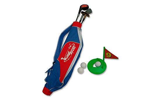 Toyland Neue Plast GS1801–Golfschläger-Set Tiger Clubs 3, Zubehör und Schultergurt für Kinder