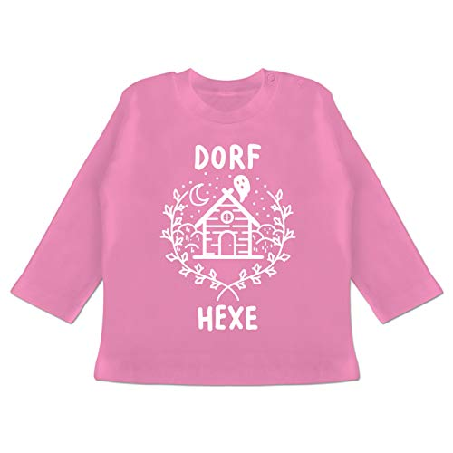 hexe Halloween - 18-24 Monate - Pink - BZ11 - Baby T-Shirt Langarm ()
