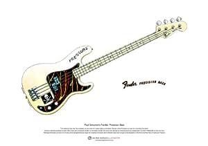 Fender Precision Bass de Paul Simonon ART POSTER taille A3
