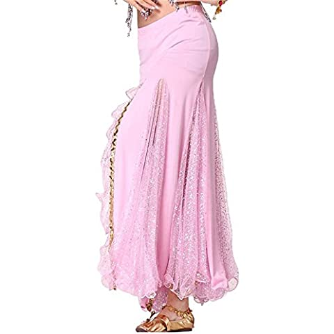 Donne Danzawea Danza del ventre Gonne Tribal Danza Costumes Shiny Side Slit Maxi Gonne Mermaid Vestito