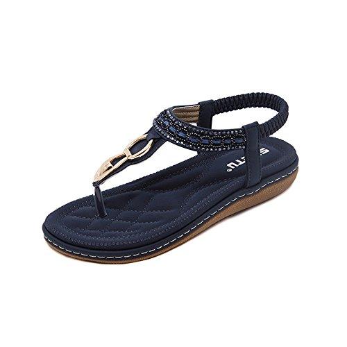 DIKHBJWQ Jungen Sandalen Hausschuhe MäDchen 27 Sneaker Socken Herren Stiefel Mit Absatz Wanderschuhe Damen Pumps Dunkelblau
