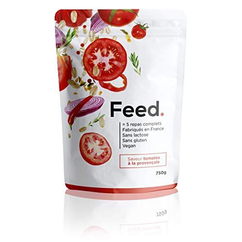Feed. - 1 Beutel mit 5 Mahlzeiten provenzalische Tomate - Komplette Mahlzeit, praktisch für unterwegs - 100% vegan - glutenfrei - laktosefrei - gentechnikfrei - 750g