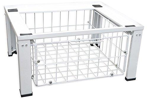 Standart Untergestell für Waschmaschine oder Trockner Sockel Podest Erhöhung Unterschrank für Kühlschrank, Hochwasserschutz neu mit zusätzlichem Drahtkorb