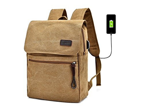 HOUHOUNNPO Perfect Fashion Night Anti-Theft Laptop Computer Backpack with USB Charging Port for Camping Hiking Business Man Women
