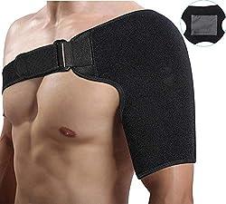 Doact Neopren Verstellbare Schulterbandage für Rotatorenmanschette Verletzungen, Reduziere Schulterschmerzen Schulterwärmer passend für Linke und Rechte Schulter für Männer und Frauen
