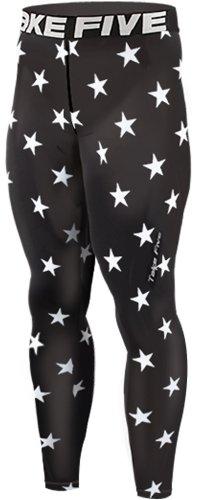 nuovo-124-skin-calzamaglia-leggings-a-compressione-base-strato-nero-pantaloni-da-corsa-da-uomo-black