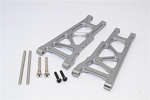 G.P.M. Traxxas Slash 4X4 / Stampede 4X4 VXL / Rustler 4X4 VXL Tuning Teile Aluminium Front Or Rear Lower Arm - 1Pr Set Grey Silver