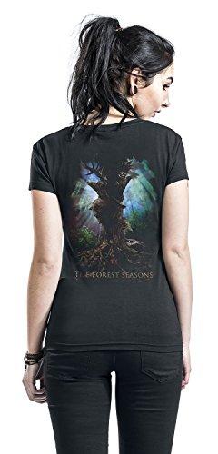 Unbekannt Wintersun The Forest Seasons Girl-Shirt Schwarz Schwarz