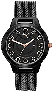 Puma Reset V1 Women's Black Dial Stainless Steel Analog Watch - P