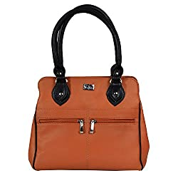 Beau Design Musturd Color PU Leather Stylish Compact Handbag For Women's/Ladies/Girls