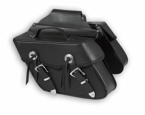 A-Pro Fringed Alforjas Bag Pair Saddle Bag Luggage Custom Chopper Travel Bag Black