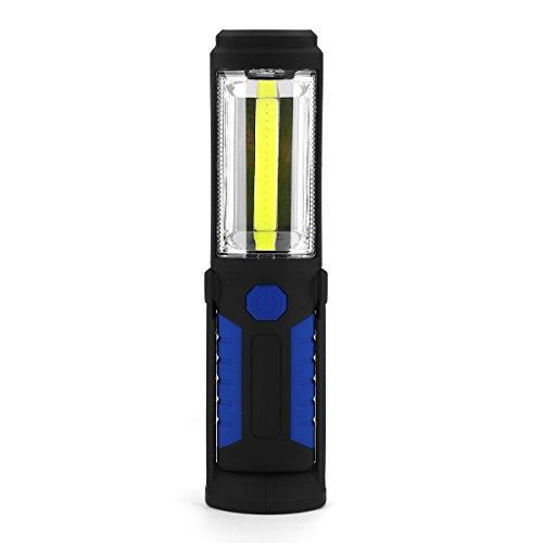 LaDicha Portátil 3000 Lumen COB Led Linterna Magnética Trabajo Recargable Luz 360 Grado Pie Lámpara - Azul