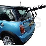 Mottez Porte-vélos d'attelage sur l'arrière du coffre de voiture pour 3vélos Compatible BMW Mini One Cooper modèles 2002-2014