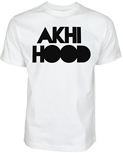 Akhi Hood | ISLAMISCHE STREETWEAR KLEIDUNG FÜR MUSLIME T SHIRT BEDRUCK OUTDOOR ISLAM FASHION (L, Weiß)
