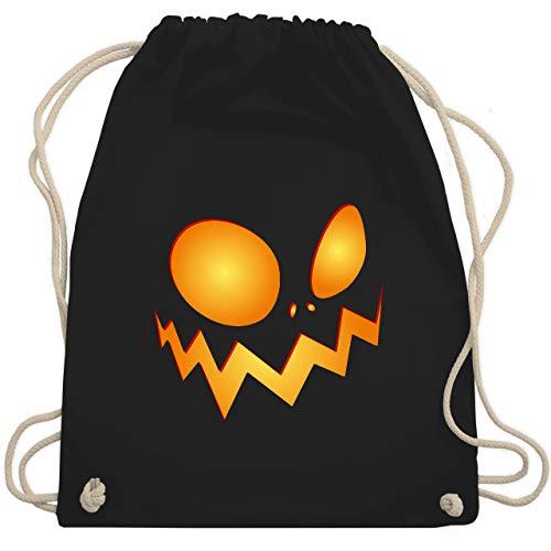 Halloween - Kürbisgesicht groß Pumpkin - Unisize - Schwarz - WM110 - Turnbeutel & Gym Bag