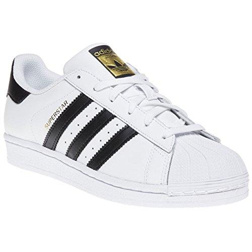 adidas Superstar J - Zapatillas para niño, color Blanco (Ftwr White/Core Black/Ftwr White), talla 35.5