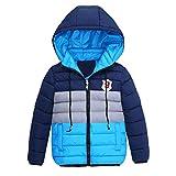 Bellelove〗 Baby Herbst und Winter Kinder Kapuzen-Baumwolle, Jungen und Mädchen Mode Nähte Kontrastfarbe warme Jacke Reißverschluss Dicke Schneejacke