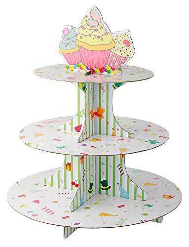 Zenker Soporte de 3 Pisos para Cupcake, Papel, Centimeters