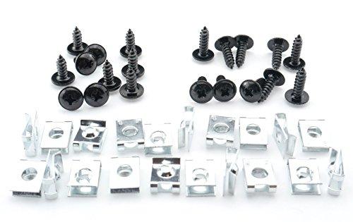 Preisvergleich Produktbild Tech-Parts-Koeln Schrauben Verkleidung Clipse 4mm Roller Quad Motorrad M4 schwarz Klemmen Satz